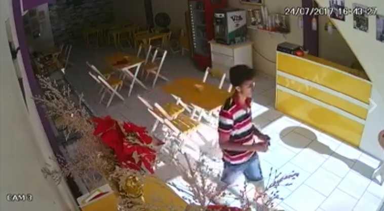 Ajuda para identificar estuprador que assaltou sorveteria de Manaus / Reprodução Youtube