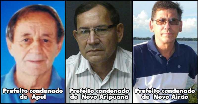 os prefeitos eleitos em 2016 foram condenados pela Lei da Ficha Limpa