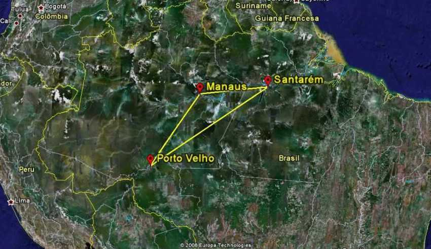 Lenda do Triângulo Amazônico e as Pirâmides Maias / Divulgação