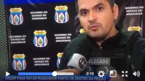 delegado Juan Valério da Policia Civil / Reprodução Youtube