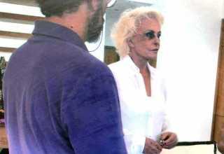 Ana Maria Braga com o olho roxo