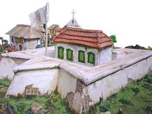 Maquete do Forte São José da BarraPara garantir os seus domínios na região os portugueses criaram em 1669 o Forte de São José do Rio Negro, em torno do qual surgiu um arraial que se chamou Lugar da Barra e deu origem à cidade de Manaus.