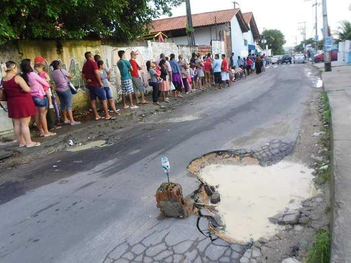 População sofre para marcar consulta em posto de saúde no Santa Etelvina - Imagem: Welligton Pereira