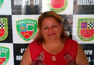 Presa por saidinha de banco em Humaitá / Foto: Divulgação/PMAM