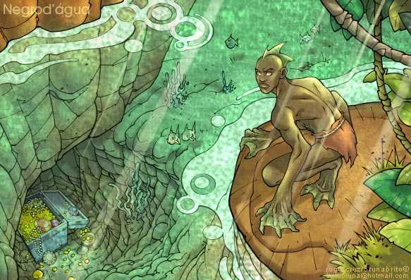 A lenda do Caboclo d'água / Foto : Ilustração