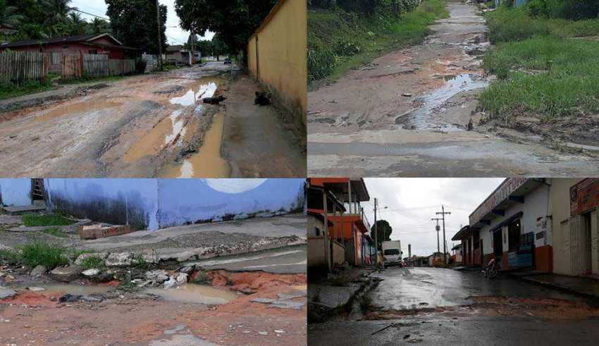 Vereador denuncia que as ruas de Rio Preto da Eva parecem terreno da Lua / Foto : Divulgação