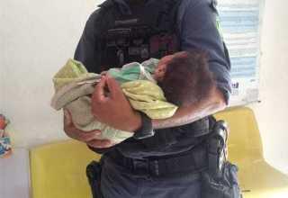 PM resgata criança em situação de risco e maus tratos na Compensa, em Manaus - Imagem: Divulgação