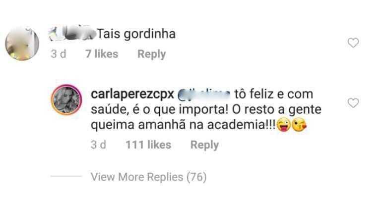 Carla Perez posta foto de maiô / Reprodução Instagram