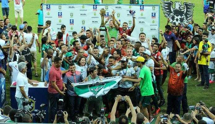 O Manaus FC foi bicampeão amazonense em 2018, fazendo 4 x 0 em cima do Fast Clube na final. / Foto: Divulgação.