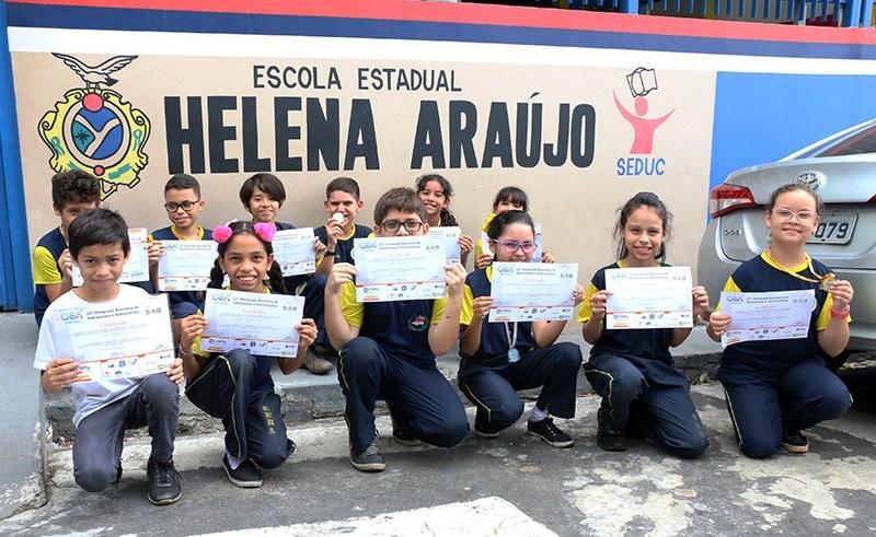 Escola do Amazonas conquista 53 medalhas na Olimpíada Brasileira de Astronomia e Astronáutica / Foto : Eduardo Cavalcante
