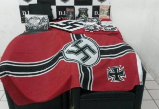 m 2014 a Polícia Civil apreendeu em Itajaí materiais que faziam apologia ao nazismo(Foto: Victor Pereira, BD, 2014)