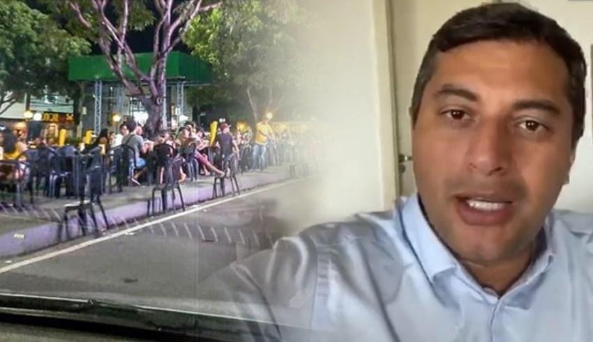 Governador Wilson Lima determina o fechamento de bares e restaurantes para combater a proliferação do novo coronavírus