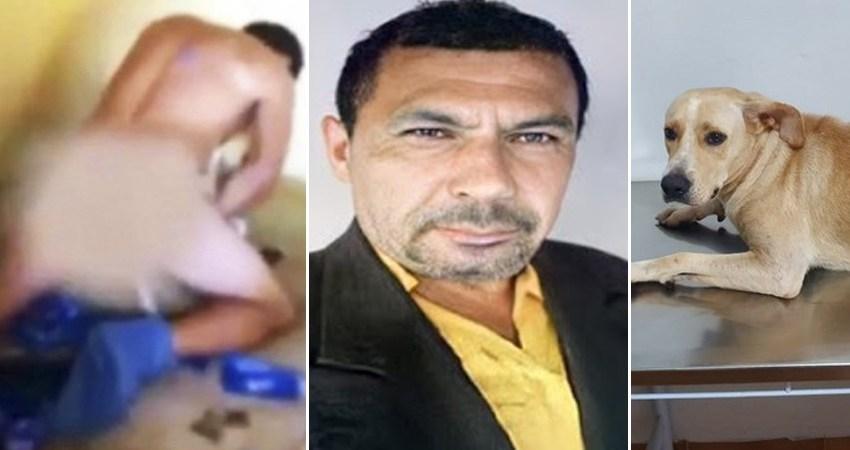 Candidato a vereador que foi filmado estuprando cadela é encontrado morto!