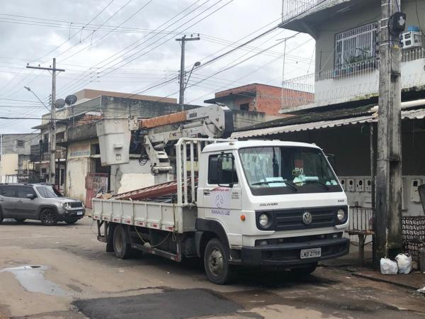 Manaus Luz na execução de serviços / Foto : Divulgação
