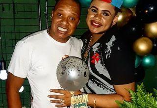 MC Maylon e Anderson Leonardo em aniversário / Foto : Divulgação