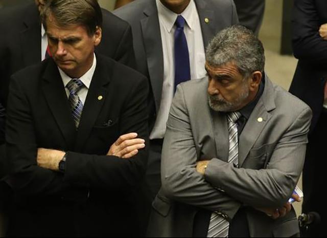 Laerte Bessa e Jair Bolsonaro / Foto: Divulgação