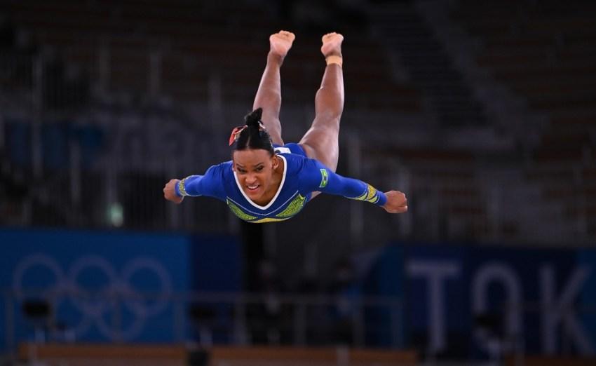 Rebeca Andrade na final, em Tóquio, em 29 de julho de 2021 — Foto: Dylan Martinez/Reuters