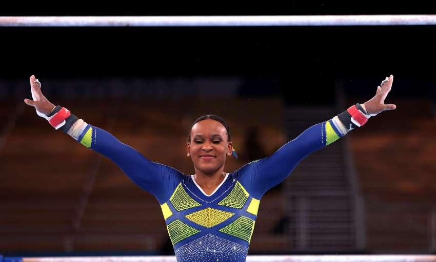Rebeca deixou Guarulhos com 9 anos em busca do sonho olímpico conquistado em TóquioJamie Squire/Getty Images