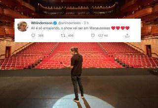 Futuro cidadão amazonense, Whindersson Nunes publica foto de ensaio para seu grande show em Manaus