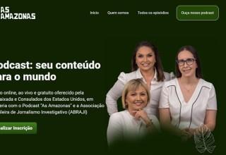 """Embaixada dos EUA e Podcast """"As Amazonas"""" oferecem curso gratuito de como fazer podcasts"""