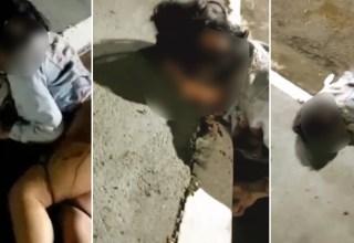 Vídeo +18: Trans é assassinada a facadas e corpo foi jogado no meio da rua