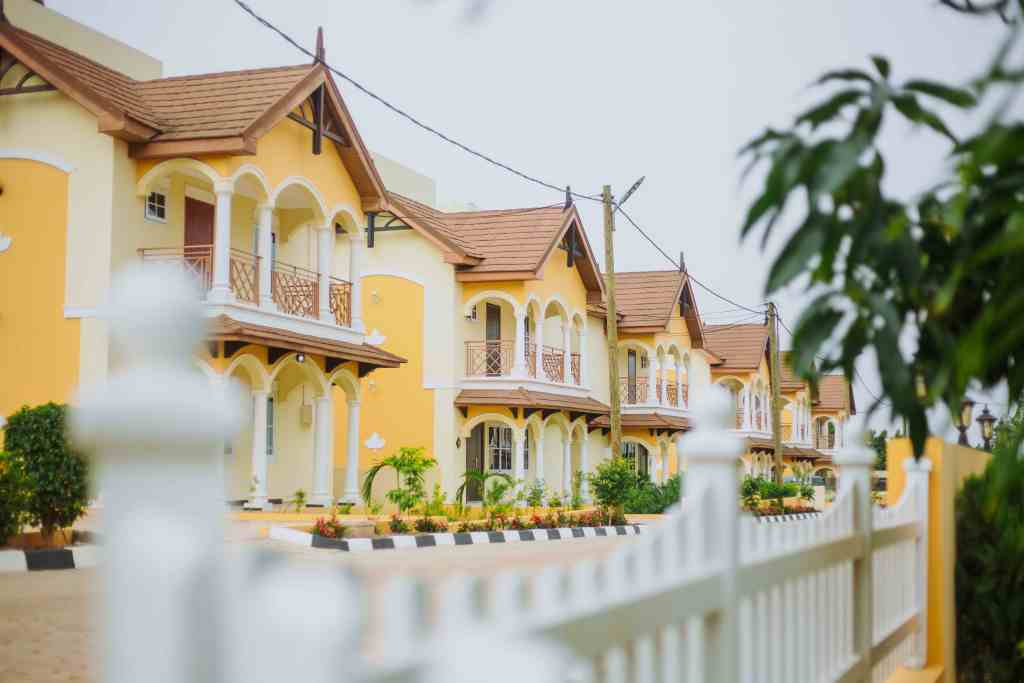 beautiful houses within Paradise Estate at East Legon Hills