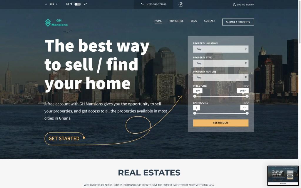 gh mansions online real estate portal in ghana
