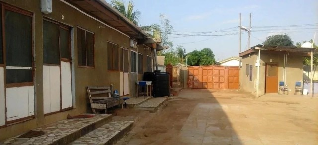 one of many compound houses in ghana