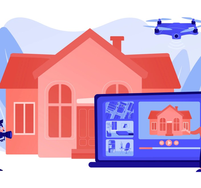 couple-watching-house-tour-professional-aerial-property-video-real-estate-video-tour-real-estate-marketing-real-estate-drone-video-concept-pinkish-coral-bluevector-isolated-illustration-real-estate-show