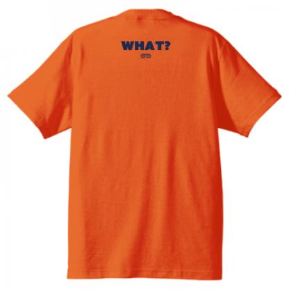 TO DIE FOR Tシャツ カリフォルニアオレンジ×ネイビー背面