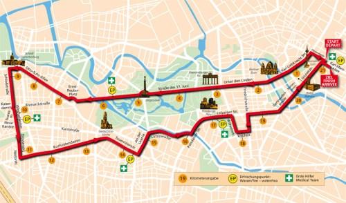 Berlin Half Marathon route