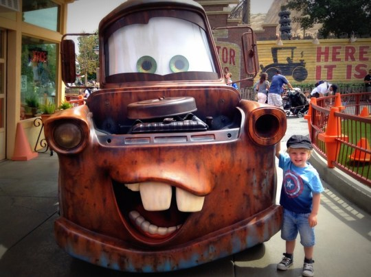 California Adventure Rides for Toddlers - CarsLand Meet n Greet