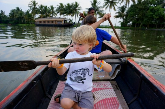 Cruising the Backwaters of Kerala - Places to Visit in Kerala with Kids