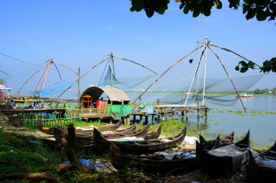 Chinese Fishing Nets - Places to Visit in Kerala with Kids