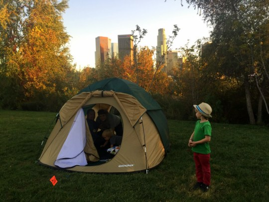Urban Camping in Los Angeles with the MRCA ( Vista Hermosa Park)