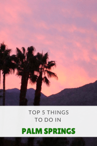 Top 5 Things for Families to do in Palm Springs