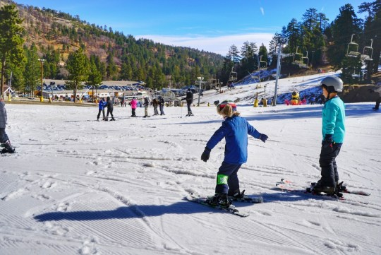 best resort for beginner skiing near los angeles no back