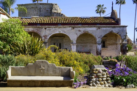 Visting Mission San Juan Capistrano with kids
