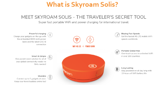 Portable WiFi Hotspot: Internet on the go with Skyroam Solis