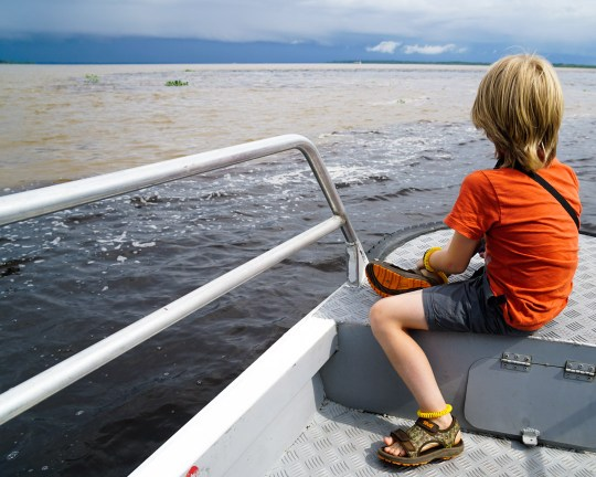 Meeting of Waters on an Amazon river Cruise with kids