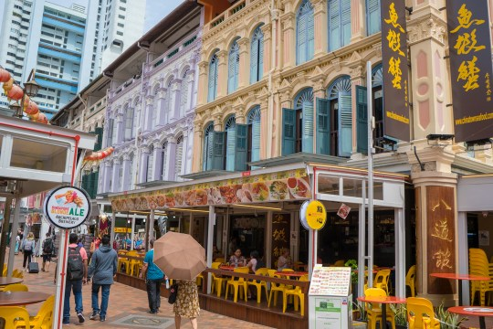 Chinatown in Singapore with kids