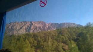 Aussicht aus dem Bus