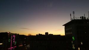 Sonnenuntergang im Büro