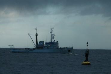 """Seeschlepper """"Wangerooge"""" der Marine."""