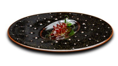 Photo of Corey Lee's sea cucumber creation