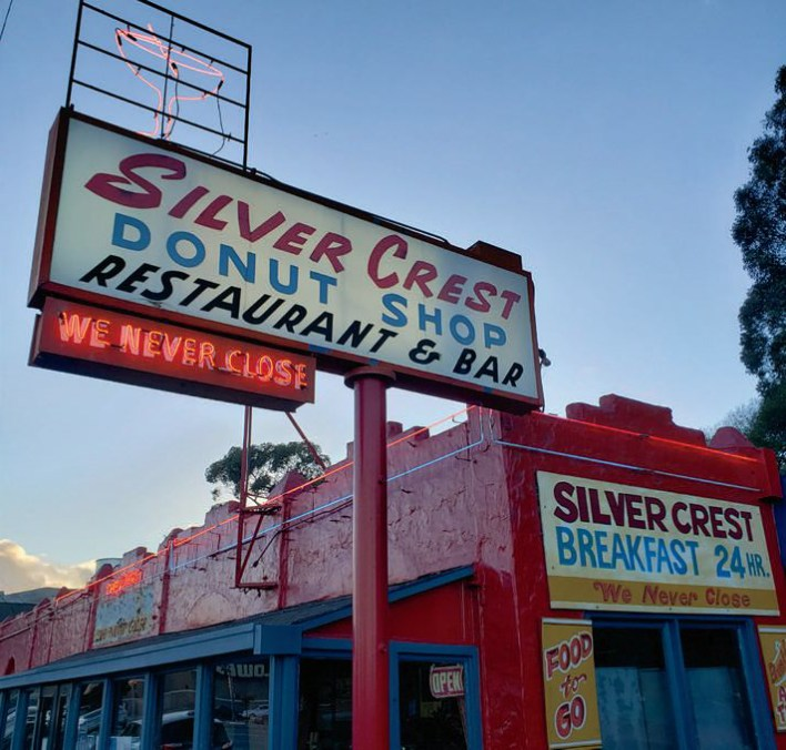 The Silver Crest Donut Shop achieved Heritage's Legacy status in 2013.
