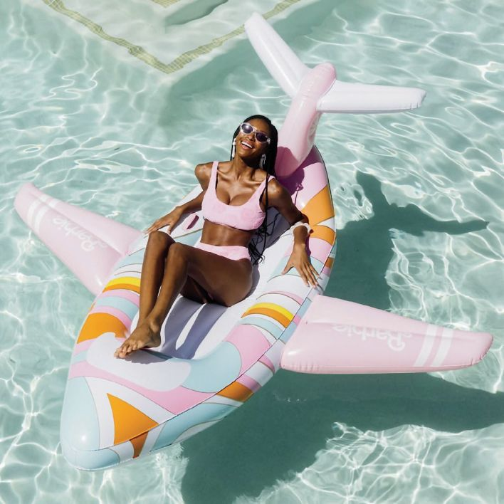 50th Anniversary Malibu Barbie Private Jet Float by Funboy ($99)