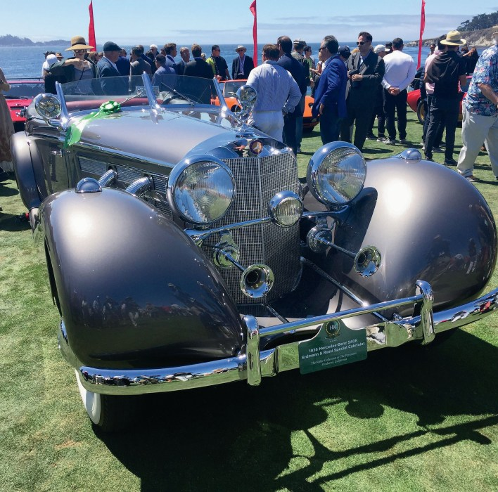 Classic 540K Mercedes (Pebble Beach) Stunning classic era cars from the 1930s, like this 1936 Mercedes-Benz 540K from the Keller Collection, grace the greens at the Pebble Beach Concours d'Elegance.