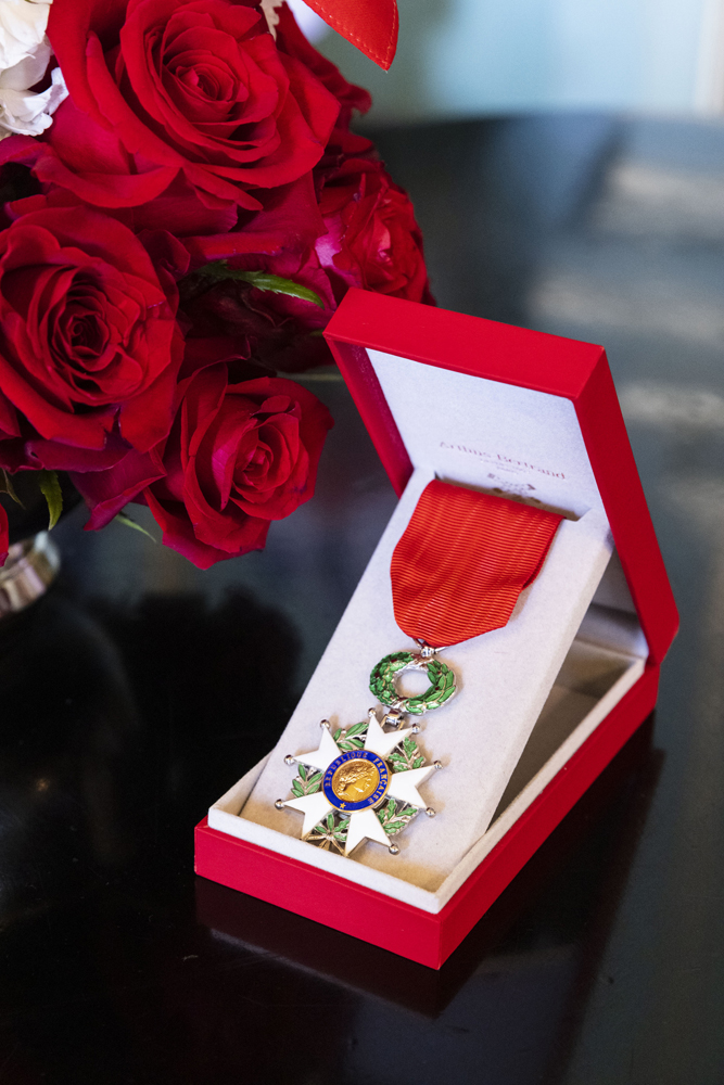 The French Legion of Honor medal