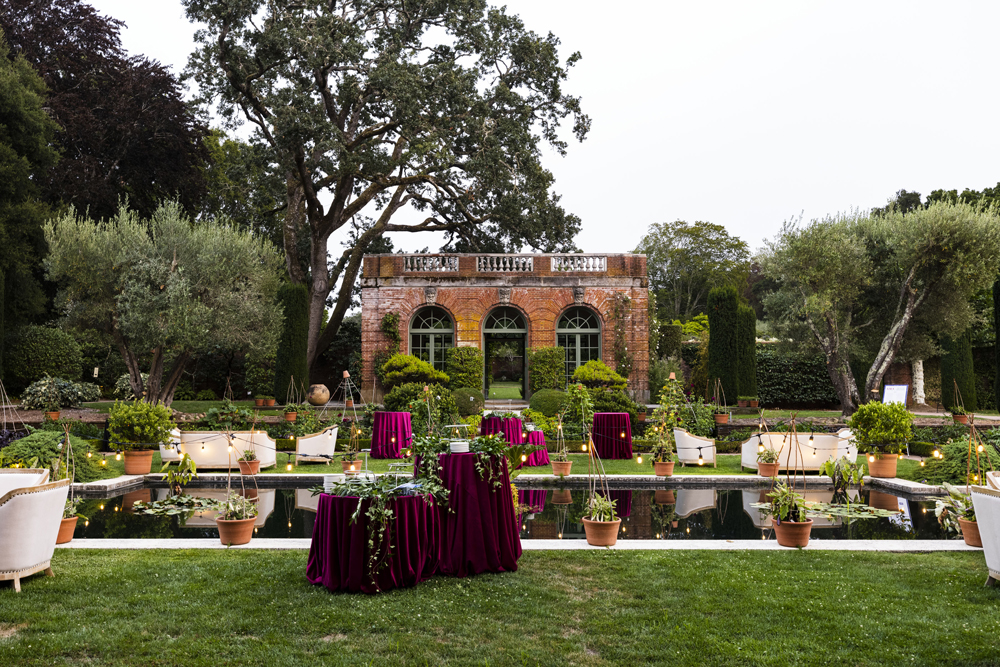 The grounds of Filoli, decorated for the garden gala